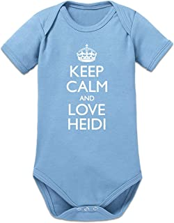 Shirtcity Keep Calm and Love Heidi Baby Strampler by