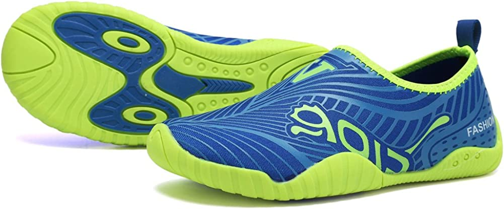 CIOR Kids Water Shoes Quick-Dry Boys and Girls Slip-On Aqua Beach Sneakers