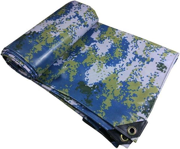 6-WUTOLUOHANS Tissu antipluie imperméable bache bache imperméable bache de Camping Prougeection du Bois Cargaison Prougeection Solaire Cargaison Isolation résistant à l'usure Camouflage