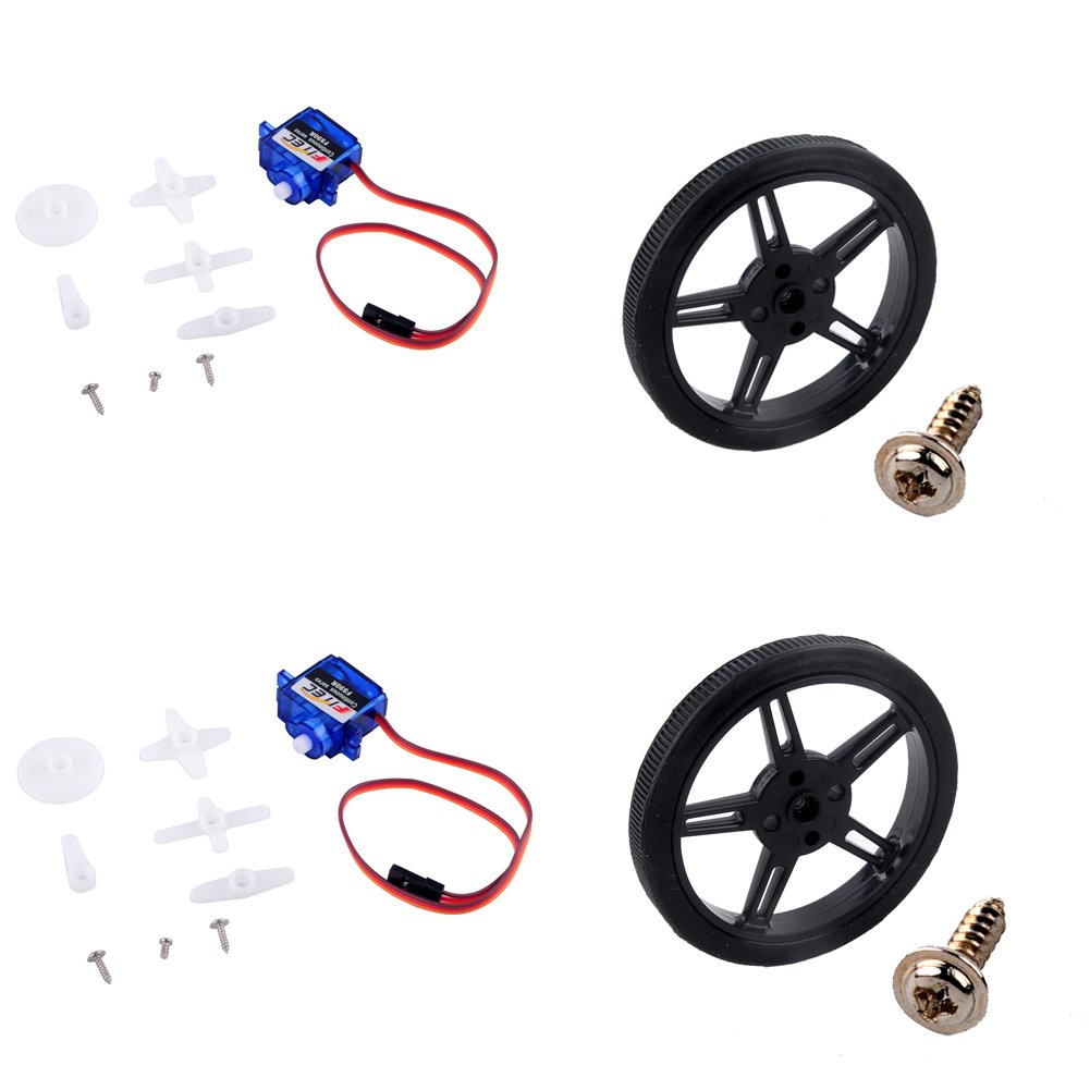 2x Spring RC SM-S4306R Continuous Rotation Robot Servo 360-degree for Robot