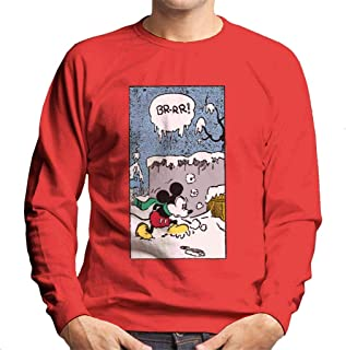 Disney Christmas Mickey Mouse Snow Walk Men's Sweatshirt