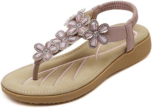 Sandales d'été fleurs diamant sandales Mme pantoufles pantoufles  dégagement jusqu'à 70%