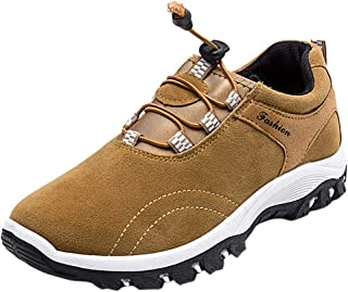 〓COOlCC〓Men's Chukka Boots,Suede Waterproof Boot Breathable with High-Traction Grip Hiking Boots Sneakers Snow Boots