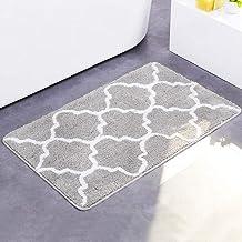ESUPPORT Large Bath Mats Soft Absorbent Floor Rug Carpet Outdoor Entrance Doormats Non Slip, Small/Gray