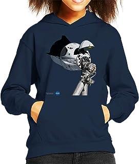 Nasa SpaceX Dragon Capsule At The ISS Kid's Hooded Sweatshirt