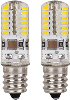 ChiChinLighting 2 Pack E17 4 Watt Dimmable LED Bulb – Microwave Oven Light – 300 to 320lm – 6000k Pure White Cool White Color – Replaces 30 Watt Halogen Bulb