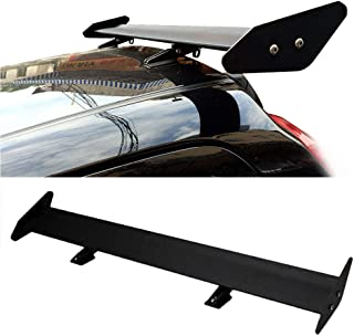 Improve car stability OTQEALY Rear Trunk Wing Racing Spoiler,Car Spoiler Universal Save fuel consumption,Black ABS material Quick Install