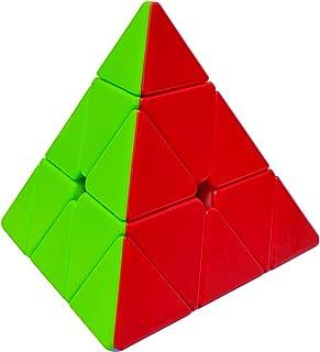 Maomaoyu Pyramide Cube Pyraminx Magic Cube 3x3 3x3x3 Stickerless Puzzle Cube de Vitesse Magique Cadeau de Vacances pour En...