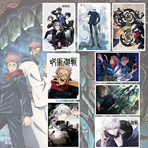WXDGLL Jujutsu Kaisen Posters Manga Decor Live Room Bedroom Anime Canvas Wall Art Print 8 PCS 11.5x16.5 Inch