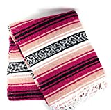 Mexitems Mexican Falsa Blanket Authentic 52' X 72' Pick Your Own Color (Grey/Pink/Black)