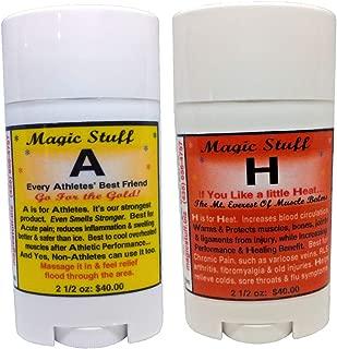 Magic Stuff A & H All Natural Pain Balms (2.5oz Bundle)