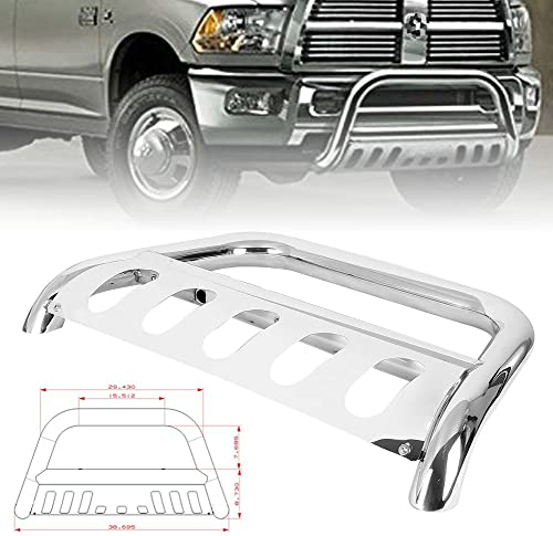 discount Mallofusa Front 2021 Bumper 2021 Bull Bar Guard W/Skid Plate Stainless Steel for DODGE RAM 1500 2009-2018 outlet sale