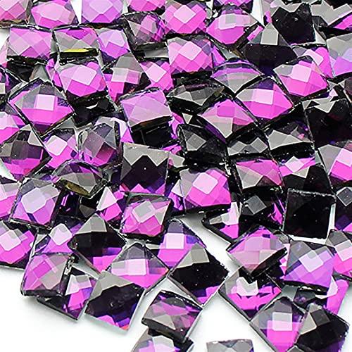 TDONG-TZ Azulejos Irregulares Mixtos Artesanías de Azulejos de Cristal de Cristal Cuadrado Transparente Bricolaje Adecuado para la Familia de Bricolaje (Color : 4)