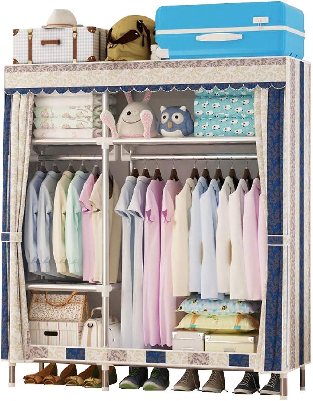 Xiao Jian Cloth Wardrobe Cloth Wardrobe Double Assembly Combination Dormitory Clothes Storage Cabinet Multifunctional Simple Wardrobe Wardrobe (color   E)