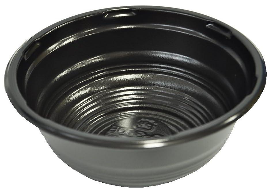天井蒸留手段業務用 AP-360B 簡易どんぶり 小サイズ 黒 本体 50枚入れ CP630067