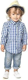 Ropa para Padres e Hijos,Mamá,Papá,Niña y Familia a Juego con Botón de Manga Larga,Camisa a Cuadros,Vestido