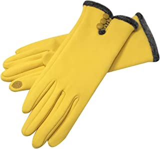 Womens Winter Gloves Warm Lined Touch Screen Driving Gloves