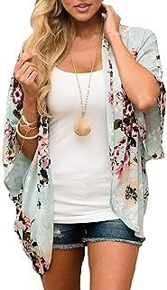 PINKMILLY Women's Floral Print Kimono Sheer Chiffon Loose...