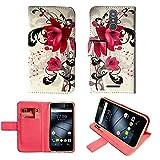 starz mobiles accessoires Gigaset GS160 / GS170 - Hülle, Brieftasche Schutzhülle Case Hülle mit Kartenfächer (Lotus)
