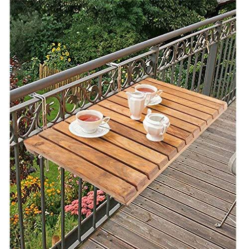 WFSH Mesas de Acampada Balcón de balcón de balcón Ajustable, barandilla de balcón Mesa de Colgando balcón Plegable Mesa de Cubierta, para Patio, jardín, al Aire Libre Interior 40 cm x 60 cm