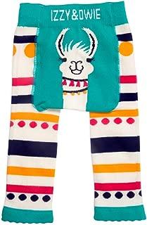 Izzy & Owie-6-12 Month Teal Llama/Alpaca Baby Girl Soft & Stretchy Leggings, Blue, 6-12 Months
