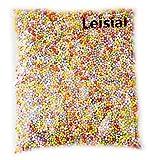 Leisial. Producción de materiales creativos. Bolitas de espuma de colores y blancas...