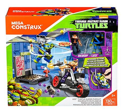 Mega Construx Teenage Mutant Ninja Turtles Leo Turtle Glider Pursuit Building Set