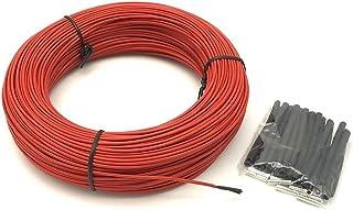DZF697 1pc m 2mm 12K 33OHM Fluoropolymère Fibre de Carbone Système de câble de câble en Fibre de Carbone Sol Fil électriqu...