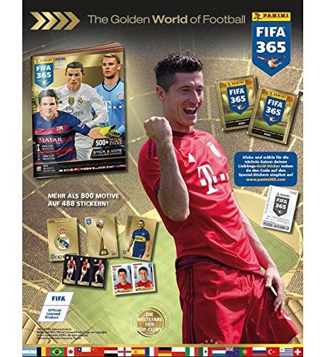 Bundle: Panini FIFA 365: 2016 Official Sticker - Collectors Sticker Starter Kit (Soccer Card Stickers) Album + 10 Packs Idaho
