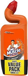 Mr Muscle Toilet Cleaner, Power, 500ml (Pack of 3)