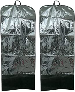 Kuber Industries™ Dust & Moistureproof Folding Travel and Storage Garment Cover Bag Set of 2 Pcs - Ideal for Kurti, Long Dress, Salwar Suit, Sherwani, Coat & More - (65 * 161cm) (Code-KST084)