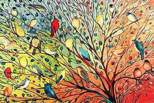 Buyartforless Tree Birds by Jennifer Lommers 36x24 Colorful Art Print Posters