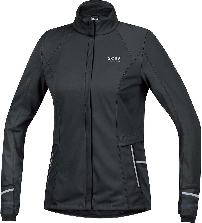 (40, Black  black)  Gore Running Wear Mythos 2.0 Windstopper Soft Shell Lady Women's Jacket