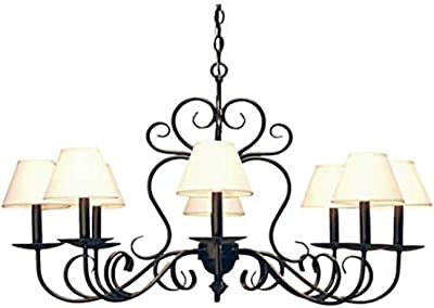Meyda Tiffany 118012 Eight Light Chandelier from Corrina Collection in Antique,Mahogany Bronze Finish, 36.00 inches