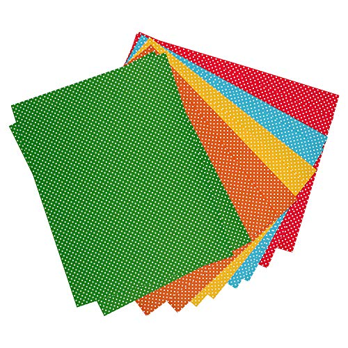 SNOW CRAFTS A4 Mixed Colour Polka Dots Sheets 150-170 GSM For Art And Craft School Projects. (A4-40 SHEETS)