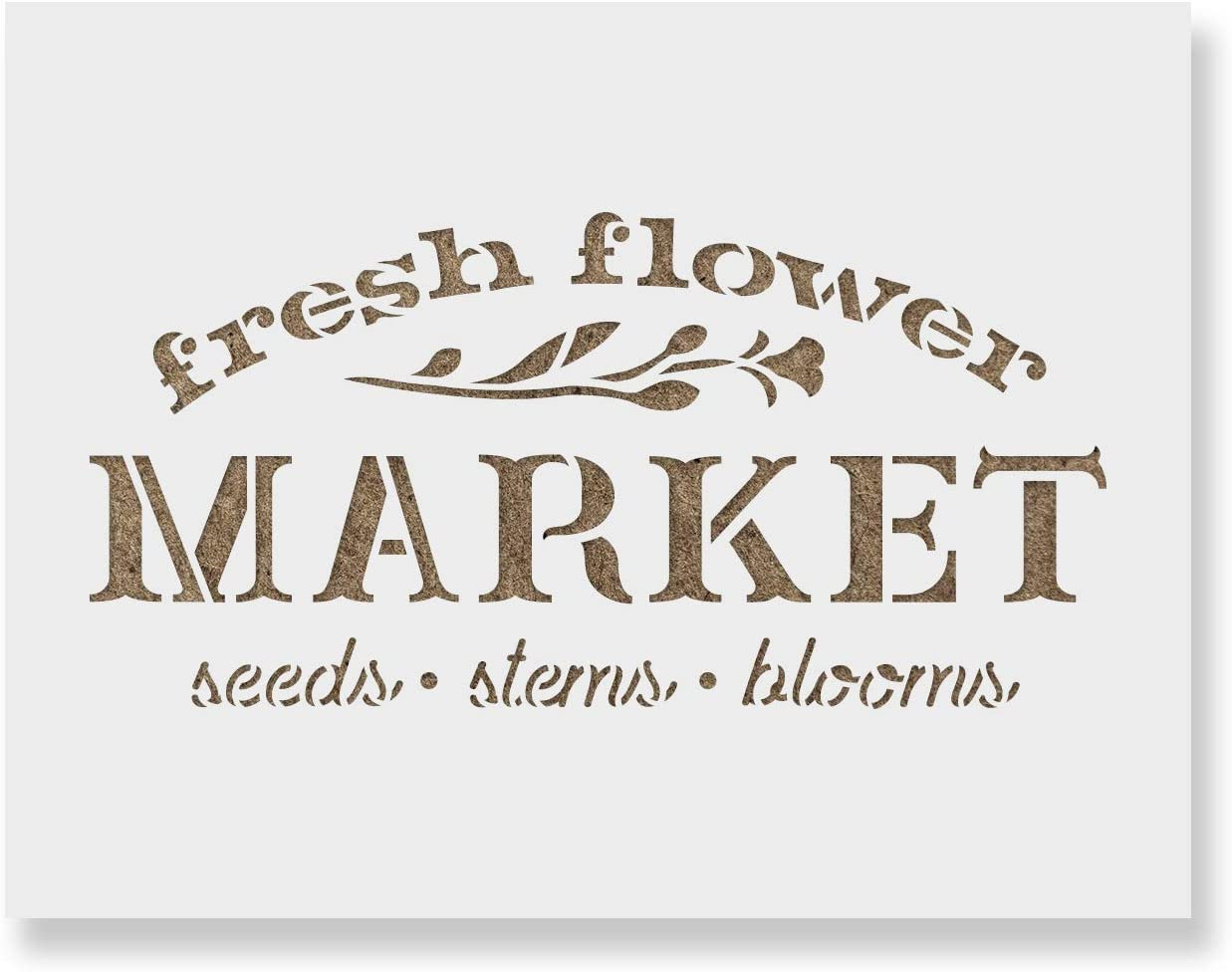 Bombing new work Fresh Flower Market Sign Stencil Reusable for Paintin Stencils - All items free shipping