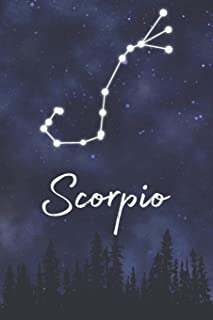 Scorpio: A Lined Notebook Zodiac Journal with Watercolor Constellation Galaxy and Fun Details About Your Sun Sign (Indigo Astrology Gift Books)
