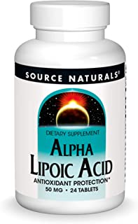 Source Naturals Alpha Lipoic Acid 50 mg Supports Healthy Sugar Metabolism, Liver Function & Energy Generation - 24 Tablets