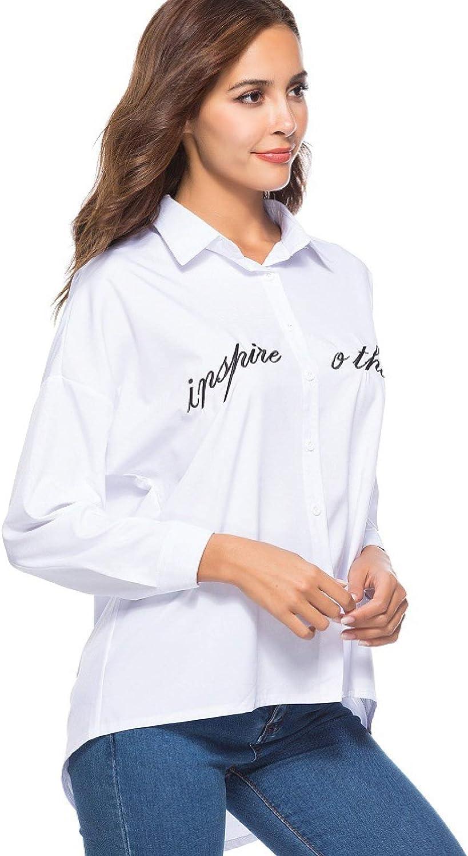 Camisa Blanca con Letras de Espina para Mujer Camisa Asia ...