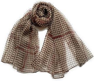 XYZMDJ Höst och vinter damer fritid matchande pläd silkesscarf tunn sektion mjuk snd andningsbar mullbär silke scarf sjal