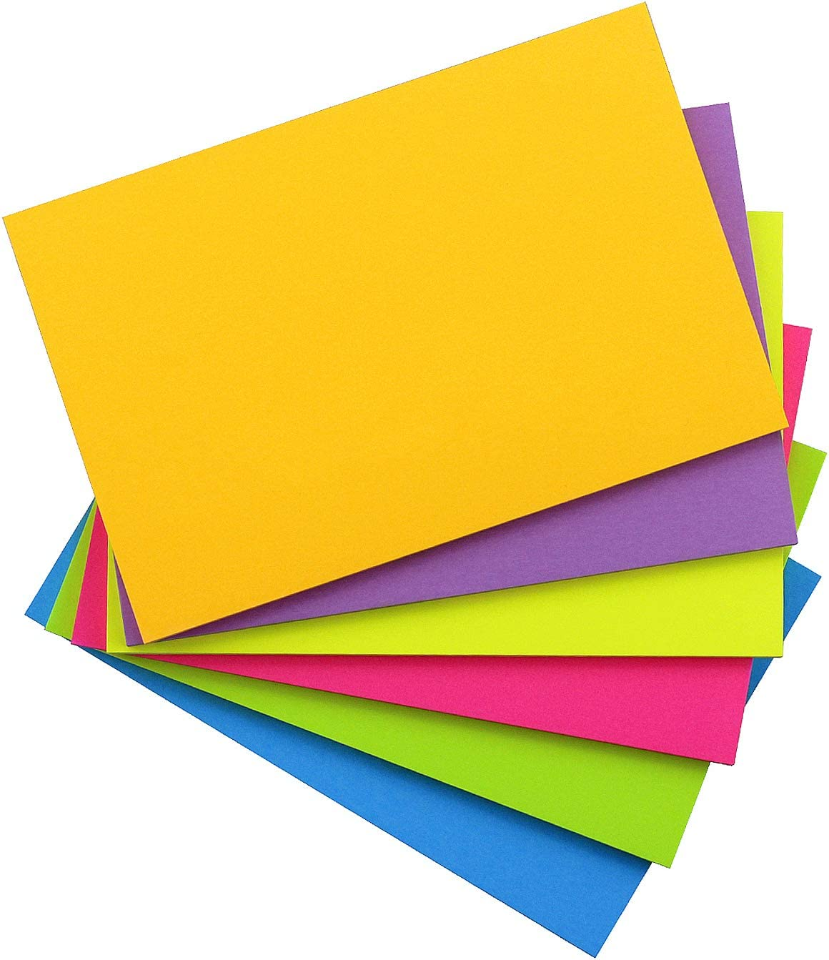 Sticky Notes Many popular brands 4x6 6 Ranking integrated 1st place Color Bright Pac Pads Colorful Pad