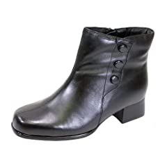 2fb657a5733 Peerage FIC Demi Women Wide Width 6 Inch Leather Dress Bootie .