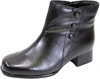 Demi Women Wide Width 6 Inch Leather Comfortable Dress Bootie