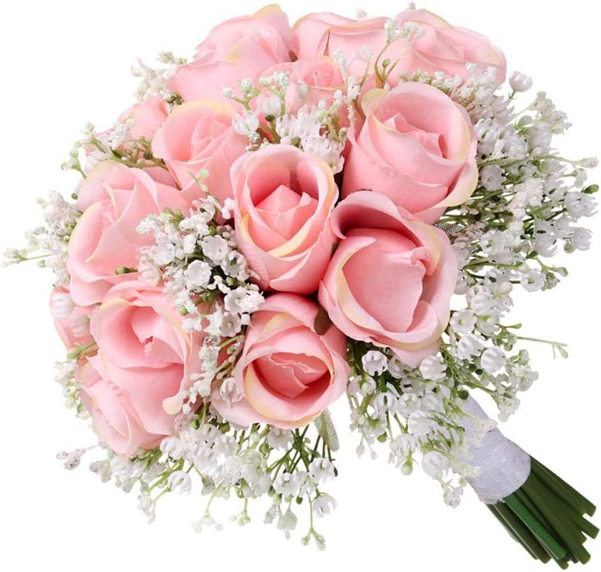 Artificial and Dried Bride Max 79% OFF Wedding Holdi Rose Bouquet NEW before selling ☆ Simulation
