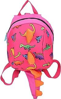 Mochila Infantil Dinosaurio - WENTS 3D Dinosaurios Mochila para Niños Infantil Guarderia Mochila Anti-perdida Bolsa de Cinturón de Seguridad Escolar Lindo Animal La Mochila (Rosado)