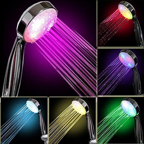 InteTech - Ducha de luz LED, 7 Colores, Multicolor, Ajuste Universal