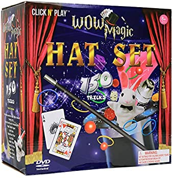 Click N  Play Magician Dress Up Magic Tricks Set for Kids Over 150 Tricks Includes Manual & DVD Tutorial