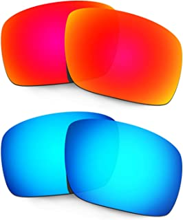 Hkuco Plus Replacement Lenses For Oakley Triggerman Sunglasses Red/Blue Polarized