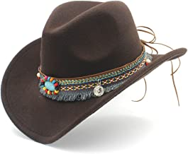Womens Fashion Western Cowboy Hat For Lady Tassel Felt Cowgirl Sombrero Caps Hats, by jdon-hats,