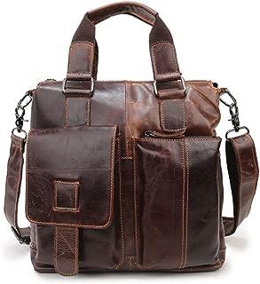 Super Bally Men's Bag Vintage Buffalo Leather Messenger Satchel Laptop Briefcase Crossbody Bags